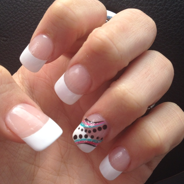 Ring Finger Nail Designs With French Tips French manicure. design on . ... - Nail Design Ring Finger ~ Beautify Themselves With Sweet Nails