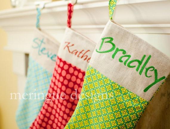 Cute Christmas Stockings Holiday Ideas Pinterest