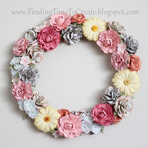 gorgeous paper flower wreath!