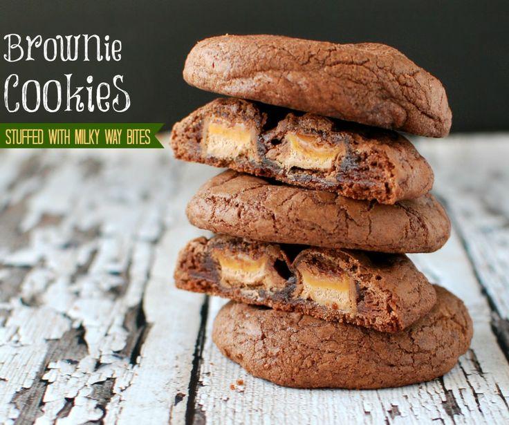 Milky Way Bites (Brownie Cookies) | Let's Eat | Pinterest
