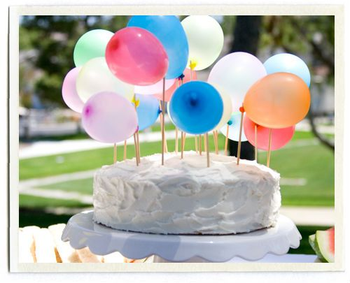 balloon birthday cake topper