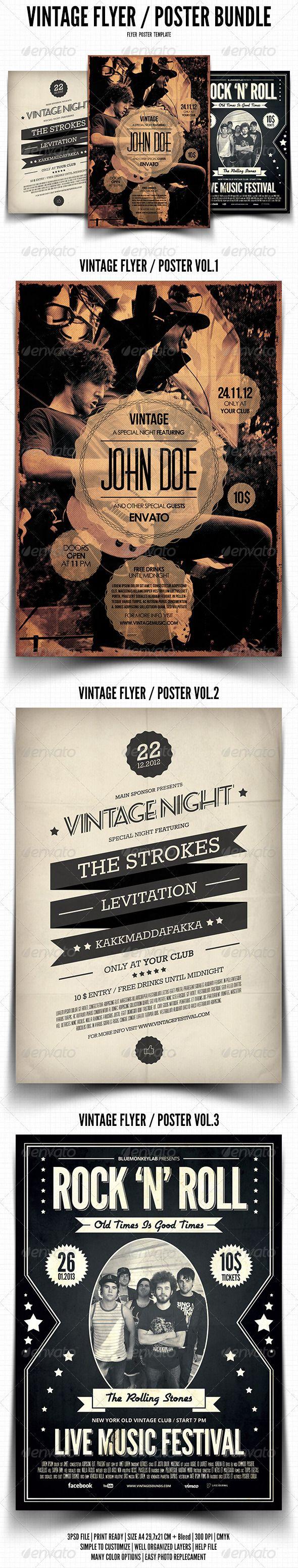 Vintage festival poster template