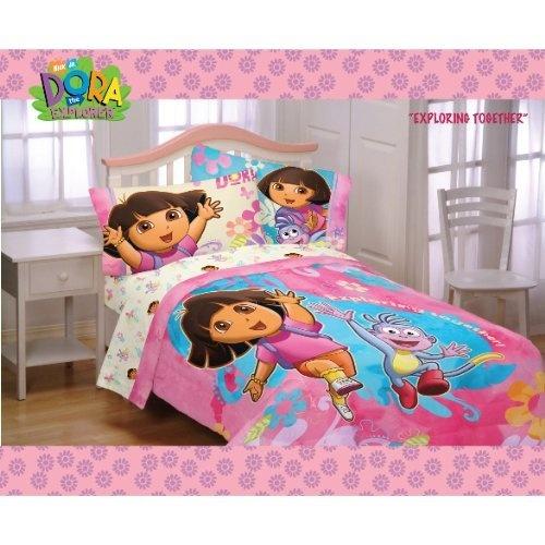 dora bedroom decorations  Dora Exploring Together Twin Sheet Set from ...