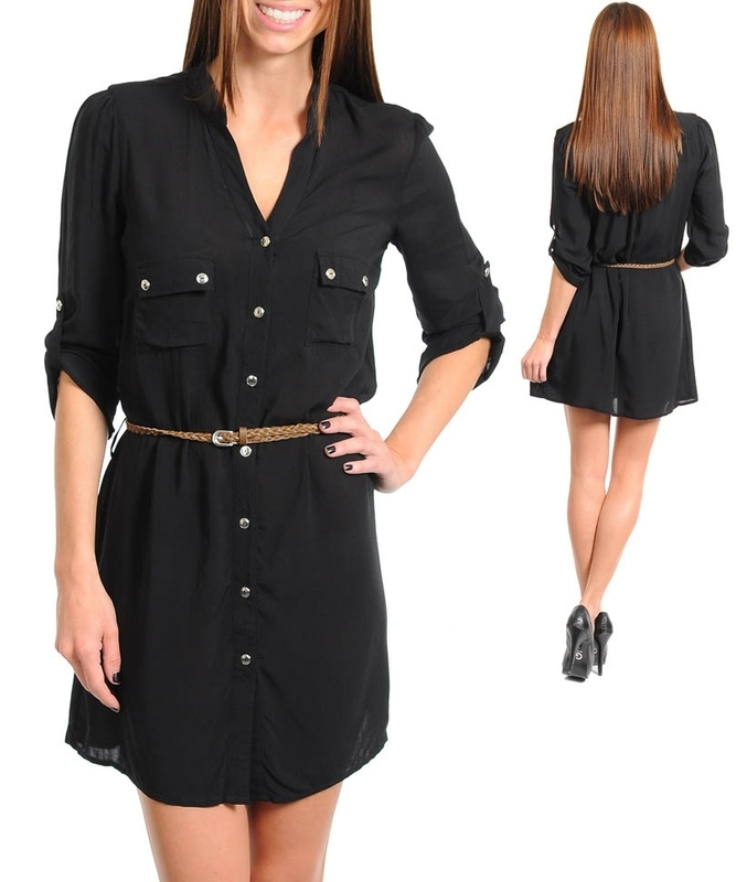 Shirt Dresses Shirt dresses are the perfect throw on outfit to scam your way into a chic look. One and done, button up or tie at the waist and your look is sophisticated, effortless and .