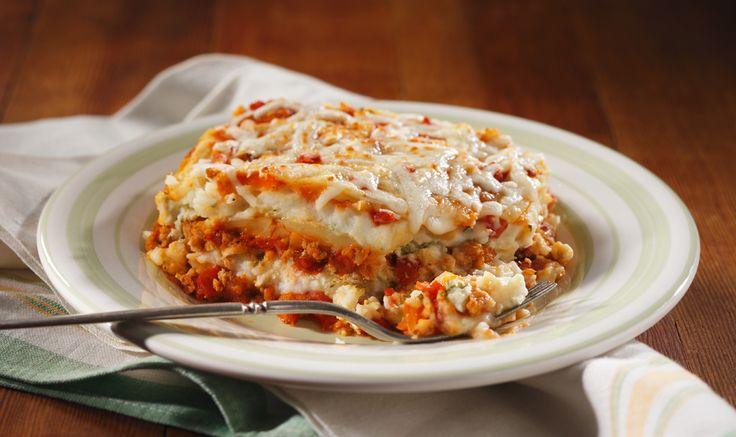 play on lasagna substituting Roasted Garlic Flavored Mashed Potatoes ...