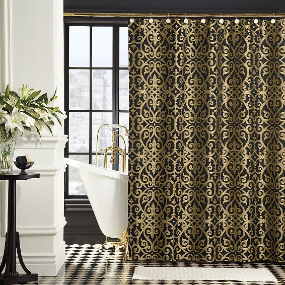 gold shower curtain there 39 s no place like home pinterest