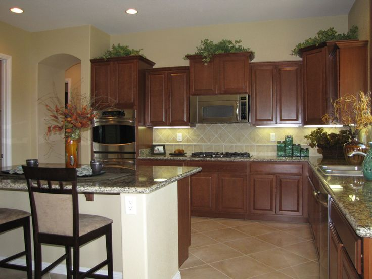 Kitchen in d r horton model home home sweet home pinterest for Model home kitchens