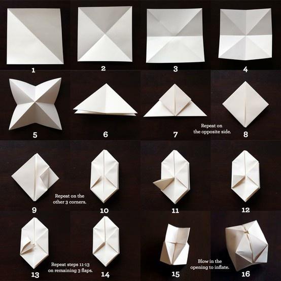Origami water bomb!