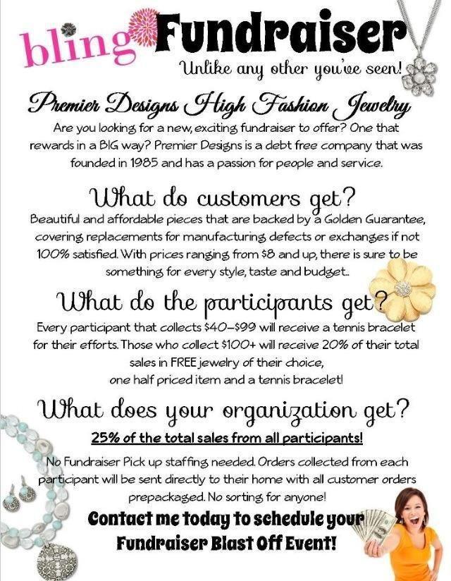 Quot Bling Fundraiser Quot Premier Designs Pinterest