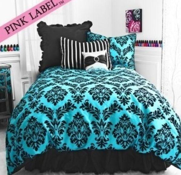 black and teal bedroom home sweet home pinterest. Black Bedroom Furniture Sets. Home Design Ideas