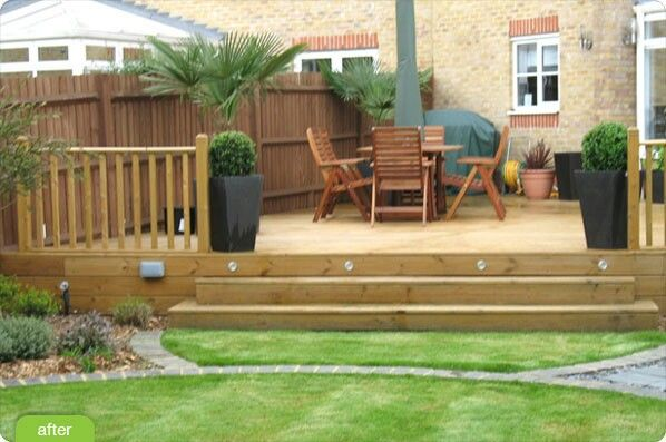 Garden ideas circle grass off decking garden ideas for Garden decking and grass