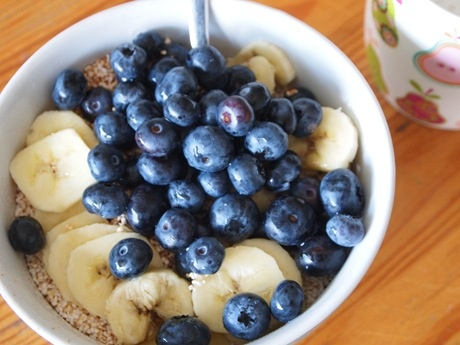 amaranth with bananas and blueberries | to my health | Pinterest