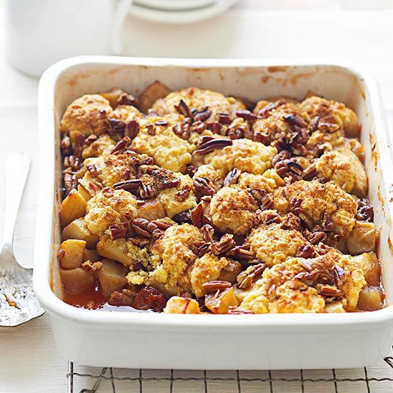 This gorgeous Polenta-Pecan Apple Cobbler is ready in only an hour ...