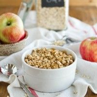 """... Could we have this for the challenge? Baked """"Apple Pie"""" Oatmeal"""