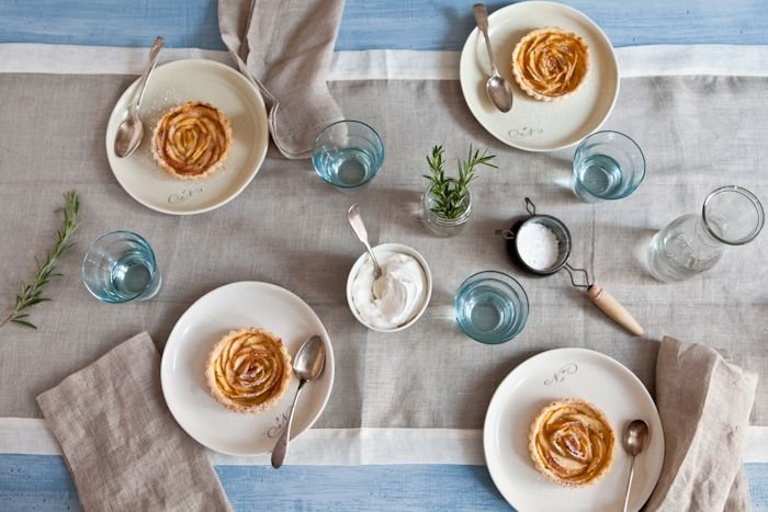 white peach tartelettes with rosemary sugar - http://www ...