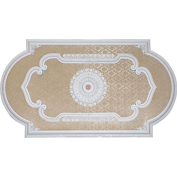 Antique White Blanco Rectangular Ceiling Medallion