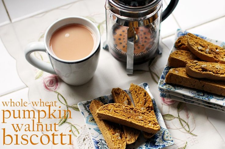 whole wheat pumpkin walnut biscotti to go w/ the pumpkin spice latte ...