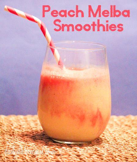 Peach Melba Smoothies   Daily Dish Recipes
