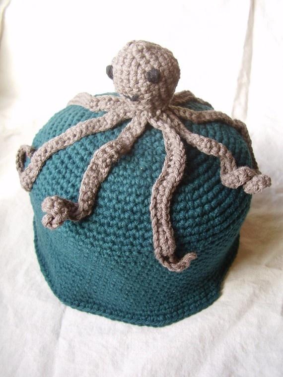 Crochet Octopus Hat : Octopus hat