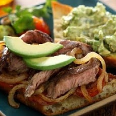 Carne Asada Steak Sandwich with Avocado Salad | David's food ...