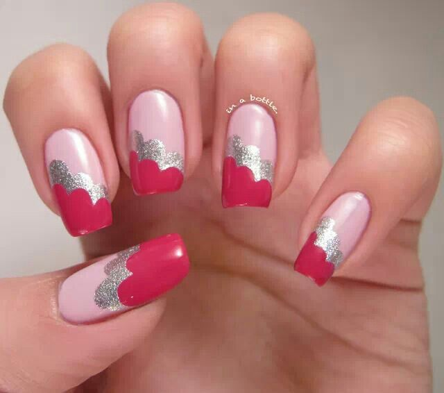 valentine themed nail designs