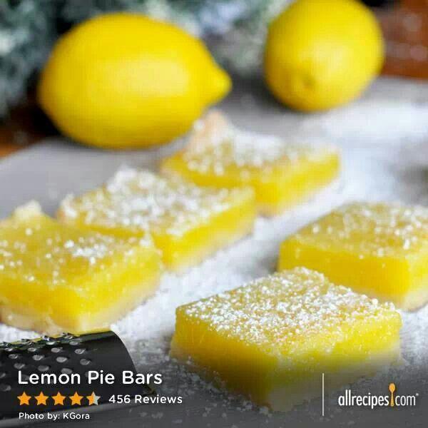 Lemon Pie Bars | Recipes | Pinterest