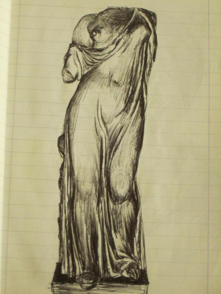 pen on paper sketch