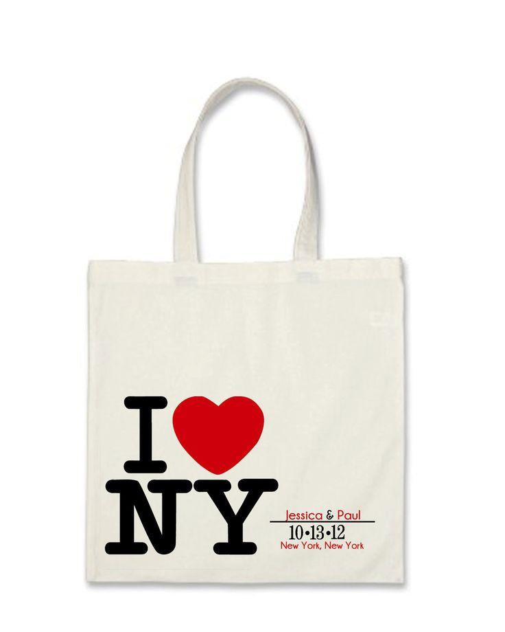 ... Cute New York Wedding Welcome Bags #Favors #WelcomeBags #Weddings #NYC