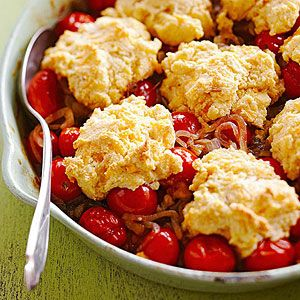 Cheddar Tomato Cobbler with Cherry Tomatoes from Midwest Living--cooks ...