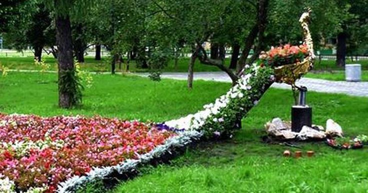 Flower bed in the shape of a peacock outdoor art pinterest for Flower bed shapes designs