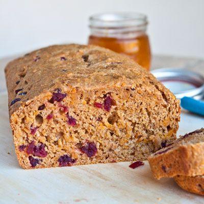 Healthy Cranberry Sweet Potato Bread | Breads | Pinterest