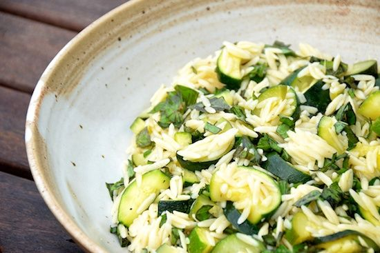 Orzo and Zucchini Salad Recipe adapted from Martha Stewart