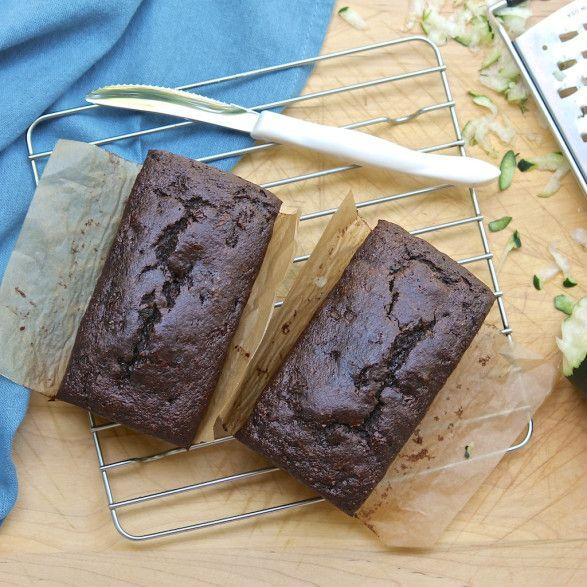 Chocolate zucchini bread - gluten free, dairy free, no refined sugars