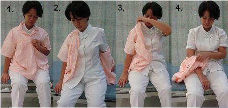 upper body dressing hemiplegia- doffing
