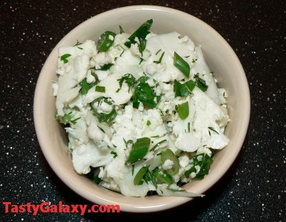 Cauliflower Salad With Scallions, Parsley And Dill | TastyGalaxy.com