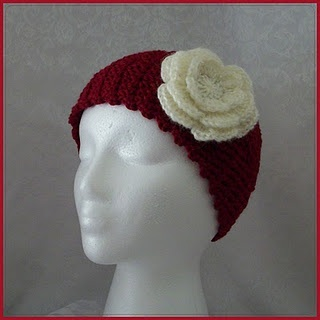 Crochet Pattern For Ear Warmer With Flower : Crochet flower ear warmer FREE pattern Crochet happy ...