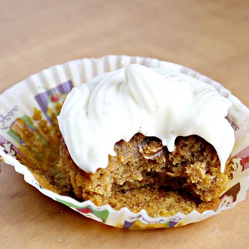Honey Pumpkin Muffins with Cream Cheese Frosting