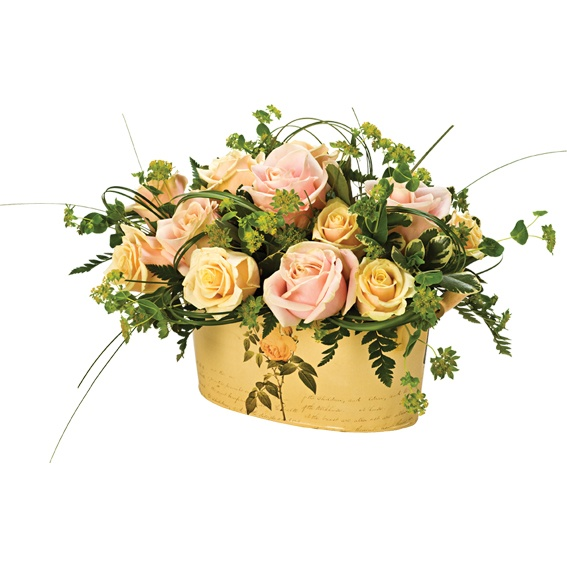 Vintage Rose Oval Planter IS Suppliers | flower arrangements | Pint…