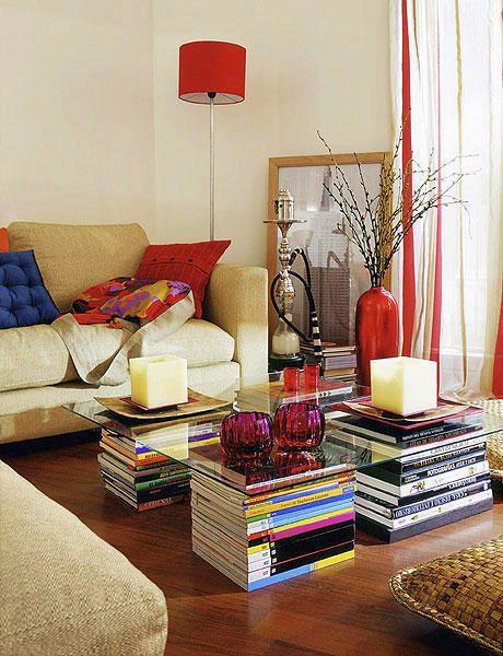 room, decor, fun, table, legs, books, DIY, ideas