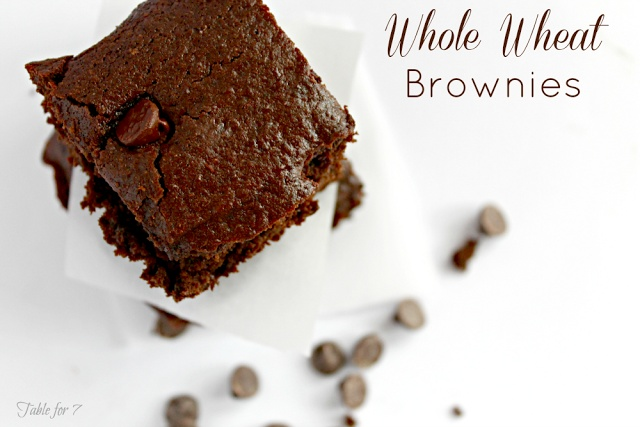 Table for 7: Whole Wheat Brownies from www.ourtableforseven.com # ...