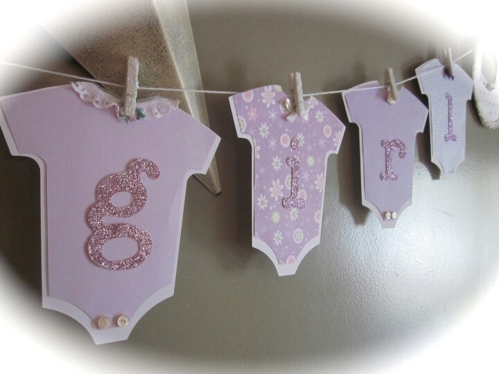 Baby Shower Banner From Diy Paper Onsies Sis Baby Shiwer