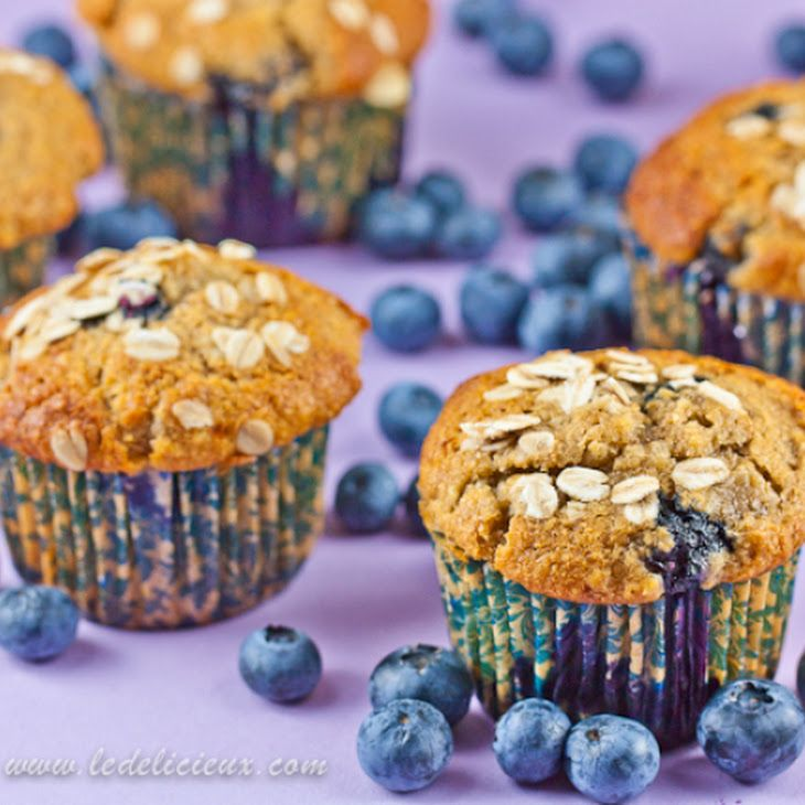 Blueberry Banana Muffins VIII Recipe | CAKES - PIES - CUP CAKES | Pin ...