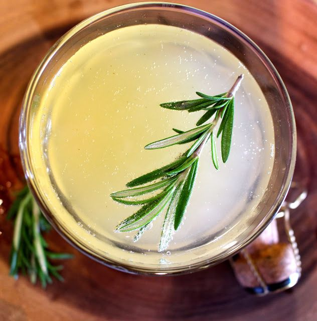 la Femme Epicure: Rosemary Pear Champagne Sparkler