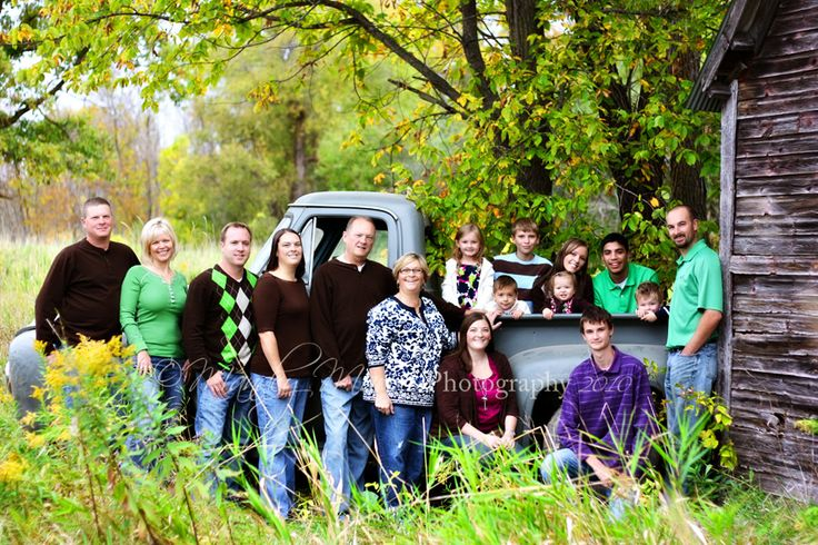 Fun Large Family Photo