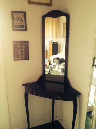 Vanity Mirror With Lights Craigslist : corner mirror table Dressers, vanities, armoires... Pinterest