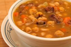 Garbanzo and White Bean Soup Recipe with Lamb and Rosemary   Recipe