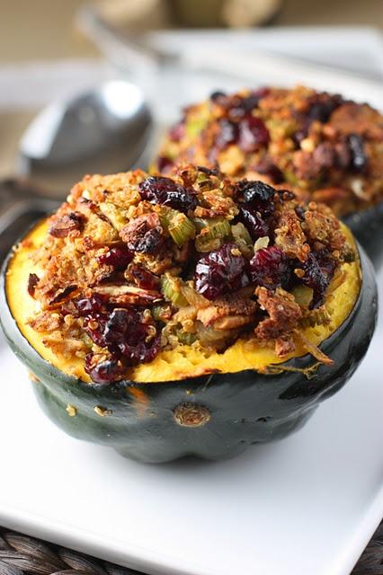 Cranberry Orange Quinoa Stuffing with Pecans in Acorn Squash... not ...