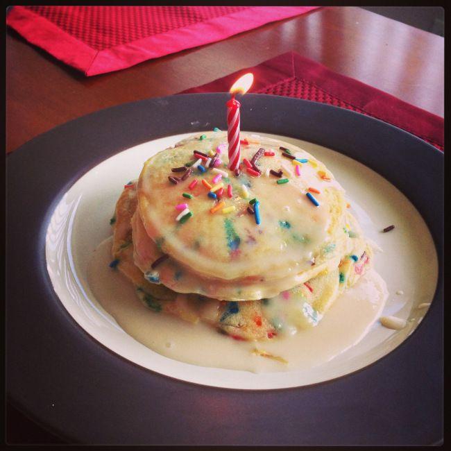 Cake Batter Pancakes | Breakfast | Pinterest