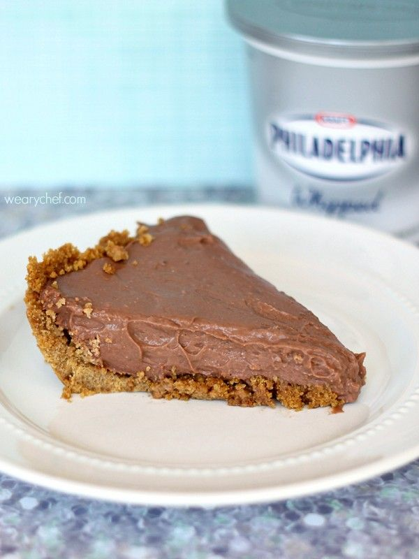 No Bake Chocolate Cheesecake Pudding Pie is Philadelphia whipped cream ...