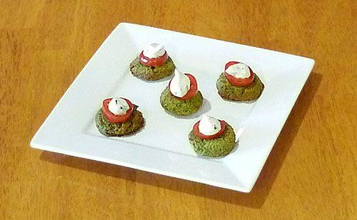 Mini Baked Falafel with Yogurt Tahini Sauce